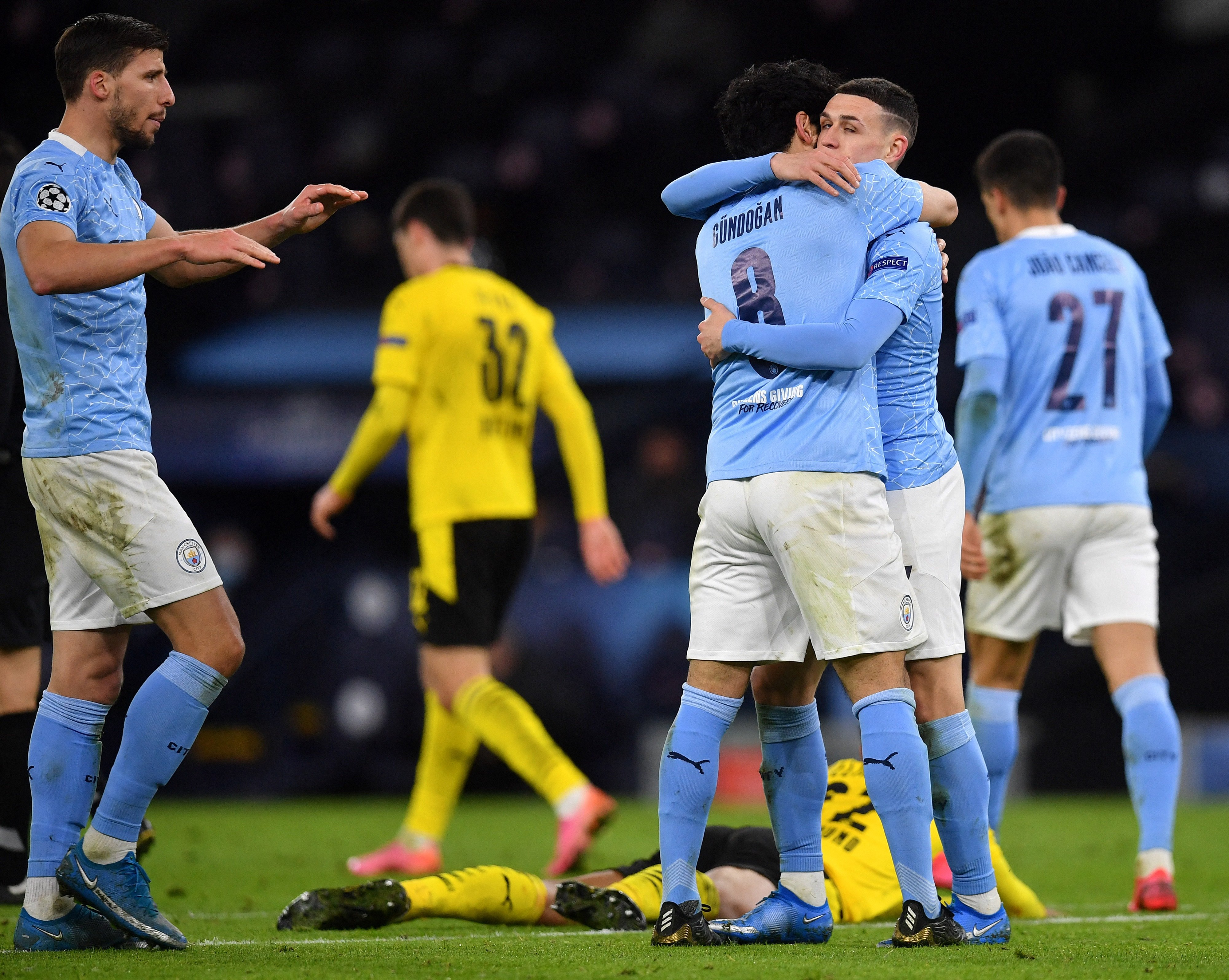 «Манчестер Сити» обыграл дортмундскую «Боруссию» в первом матче ¼ финала Лиги чемпионов