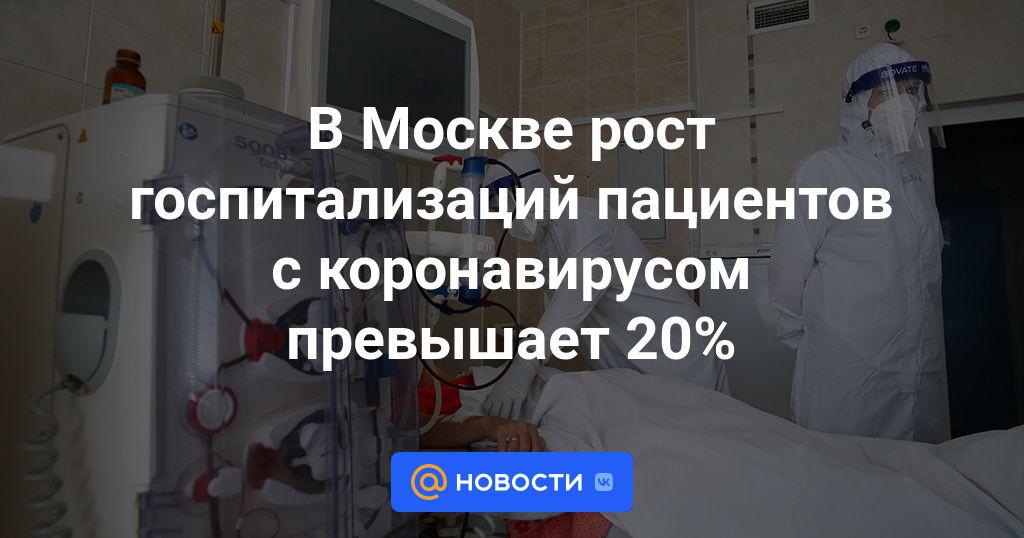 В Москве рост госпитализаций пациентов с коронавирусом превышает 20%