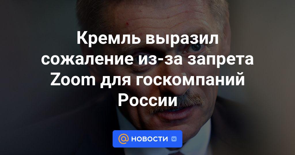 Кремль выразил сожаление из-за запрета Zoom для госкомпаний России